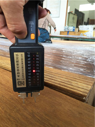 Moisture content of solid exterior bamboo decking